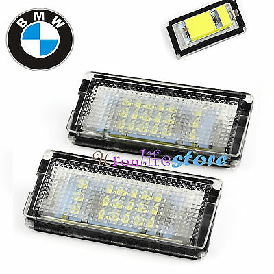 2x LED Number License Plate Light Lamp ERROR FREE For BMW 3 Series E46 4D 98-03