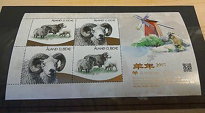 Aland 2014 Sheep  per scans MNH s/s