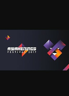 1 Awakenings Festival ticket plus 1shuttle bus ticket for Sunday 25th June 2017