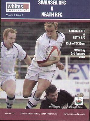 Swansea V Neath Rugby Union Programme 2004