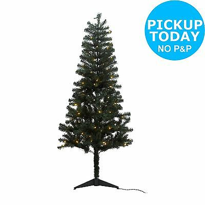Green Pre-lit Indoor Artificial Christmas Tree - 6FT-From the Argos Shop on ebay