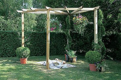 Forest Radial 90 Garden Pergola - 9 x 9ft. From the Official Argos Shop on ebay
