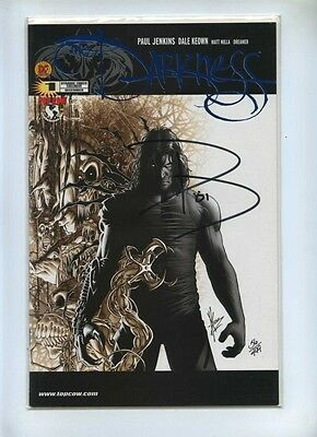 Darkness 1 - Top Cow 2002 - VFN/NM - DF Alt Blue Foil Cov Signed Paul Jenkins