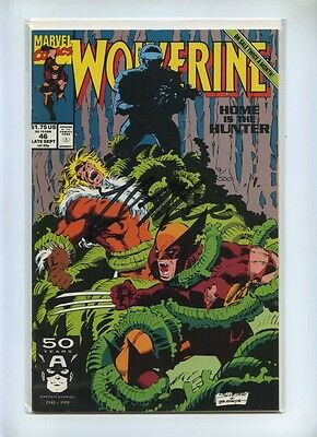 Wolverine 46 - Marvel 1991 - VFN - Dynamic Forces Signed Tyler Mane Sabretooth
