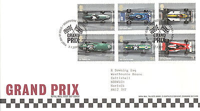 Royal Mail First Day Cover-Grand Prix-Silverstone, Towcester Shs-2007