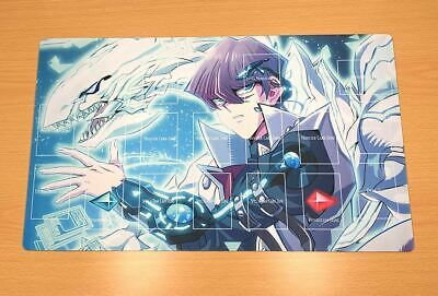 F202# Free Mat Bag Blue Eyes White Dragon Kaiba Seto Yugioh TCG Playmat Layout
