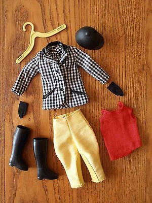 Vintage VHTF Skipper Doll Learning To Ride Riding Outfit #1935 Clean Bright