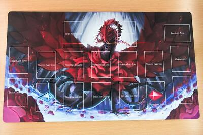 F1616# Free Mat Bag Black Rose Dragon Yugioh Trading Card Game Playmat Layout