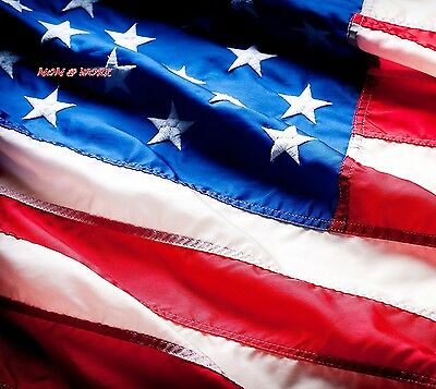 American Flag 100 Premium HIGHEST QUALITY US Made From Nylon Embroidered...