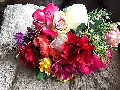 Large Assortment Of Artificial Flowers