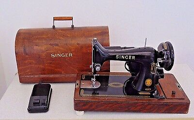 Vintage Singer 99K Electric Heavy Duty Sewing Machine Leather Canvas Sail Used