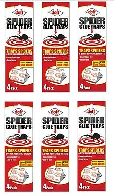 6 x Doff Spider & Crawling Insect Trap 4 Pack