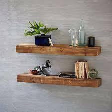 2 x Floating Shelves Solid Chunky Wood Antique pine 70cm