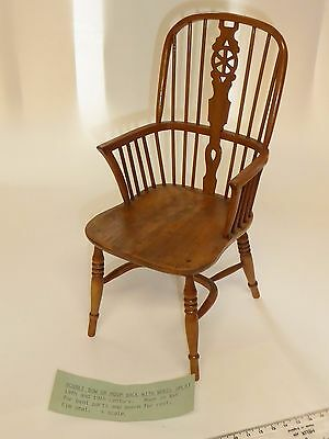 "Vintage miniature 10"" high  windsor chair  Craftsman made   by hand"