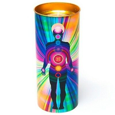 FindSomethingDifferent Human Chakra Stained Glass Effect Candle