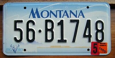 Montana 56-B1748  American License Number Plate