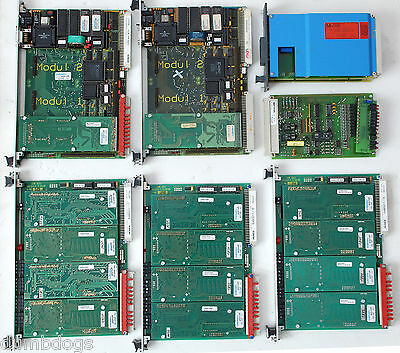8 Used Circuit Boards 5 Heinen CPU & EAM; Moeller EBE 223.1 PROM; 2 other