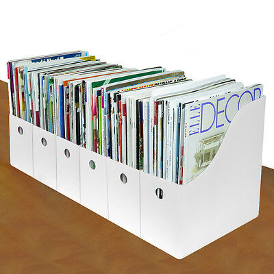 Evelots® 12 Magazine/File Holders & Labels, Assorted Colors, White
