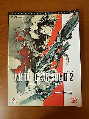 Metal Gear Solid 2 Sons of Liberty Guida Strategica Ufficiale KONAMI PS2 Sony
