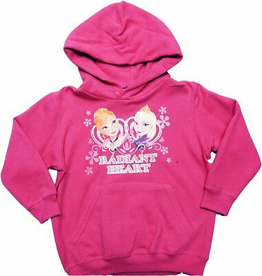 Disney Frozen Hoodie Elsa Anna Pink Hooded Girls Top Age 3 -10 years Sweatshirt