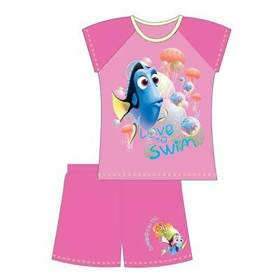 Girls  Minnie Finding Dory Doc McStuffins Frozen Shorts Shortie Pyjamas and Top
