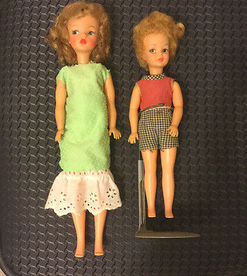 Vintage Tammy & her sister Pepper 1960's Good Cond Pos 'n Japan made Ideal Lot