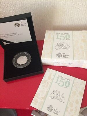 BEATRIX POTTER 2016 Silver Proof Coin 50p 150th Anniversary. New