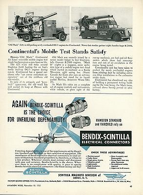 1950 Aviation Article Continental Air Lines Mack Truck Used for Testing Engines