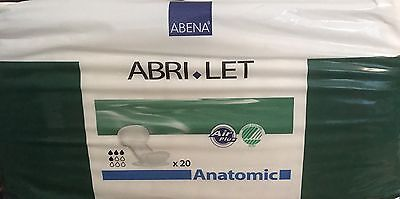 Abri-Let Booster Pad Anatomic 1 x Pack of 20 Disposable Incontinence Pads