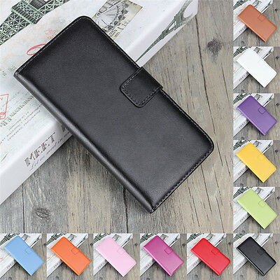 Genuine Leather Wallet Flip Case Cover For Samsung Galaxy S9 S8+ S3 S4 S5 S6 S7