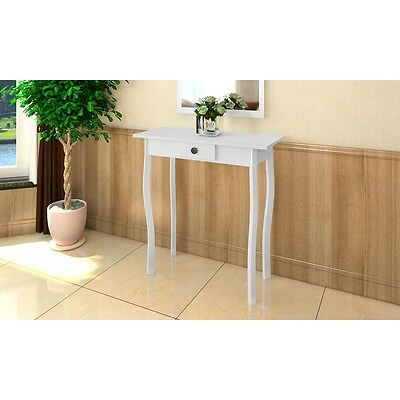 #New Cottage Style High Gloss Finish Side End Table Bedroom Drawer White MDF 73c
