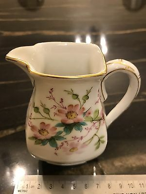 Early 20th C. Limoges France Hand Painted Porcelain Cream Pitcher And Sugar Bowl