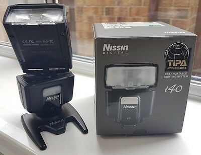 Nissin i40 Shoe Mount Flash for Fuji mint and boxed