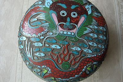 Chinese Cloisonne Box & Cover 19c