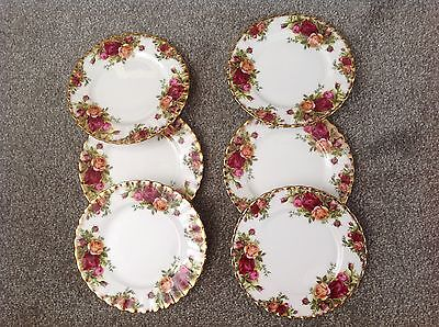 Royal Albert Old Country Roses Six Tea Plates..