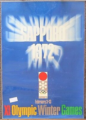 Jeux Olympiques Sapporo 72/olympics - 2 affiches anciennes/ski original posters
