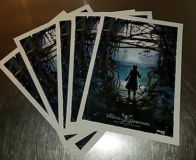 Pirates Of The Caribbean Dead Men Tell No Tales Amc Imax Promo Poster (Lot Of 5)