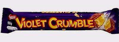 4 Nestle Violet Crumble Chocolate/Candy Bars 50g Each / Imported From Australia