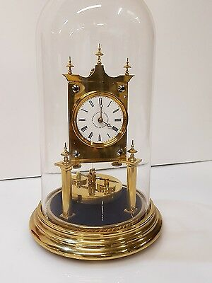 Rare Small 400 day clock,anniversary,torsion,JUF-small dial Mantel Clock