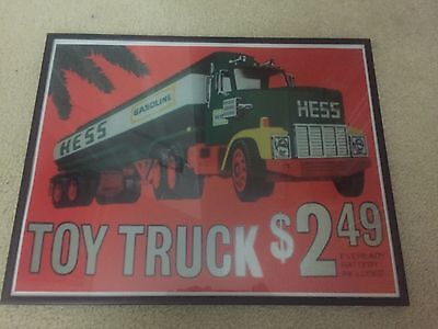 Vintage 1977 Repro. Hess Truck Advertising Poster 18x14