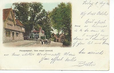 Printed postcard of the Post office at Penshurst Kent in good condition.