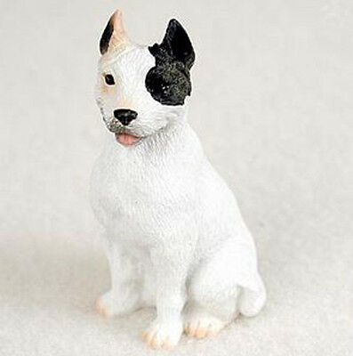 PIT BULL TERRIER PITBULL TINY ONES DOG Figurine Statue Pet Resin