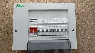 crabtree starbreaker 8 way consumer unit