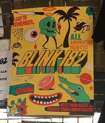 Blink 182 Tour Poster Limited West Palm Beach Florida 2016 #(31/182) Dabs Myla