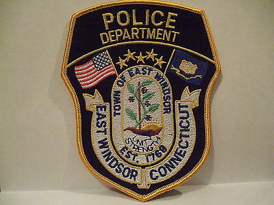 police patch  EAST WINDSOR POLICE CONNECTICUT