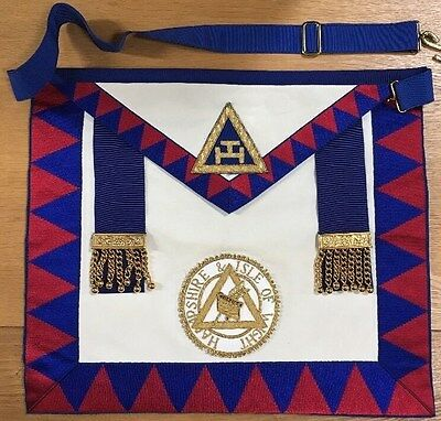Masonic Royal Arch Provincial Lambskin Apron with Hampshire & IoW Apron Badge