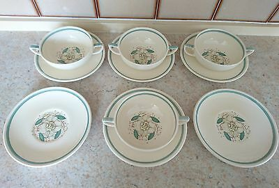 """Susie Cooper """"Gardenia"""" Cereal bowl and plates"""
