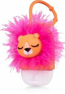 Bath & Body Works Pink & Orange Lion Cat with Fuzzy Mane Pocketbac Holder NWT