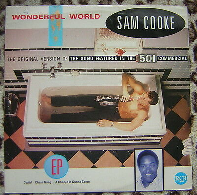 "Sam Cooke - Wonderful World 12"" Vinyl Single"