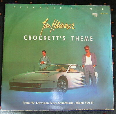 "Jan Hammer - Crockett's Theme 12"" Vinyl Single"
